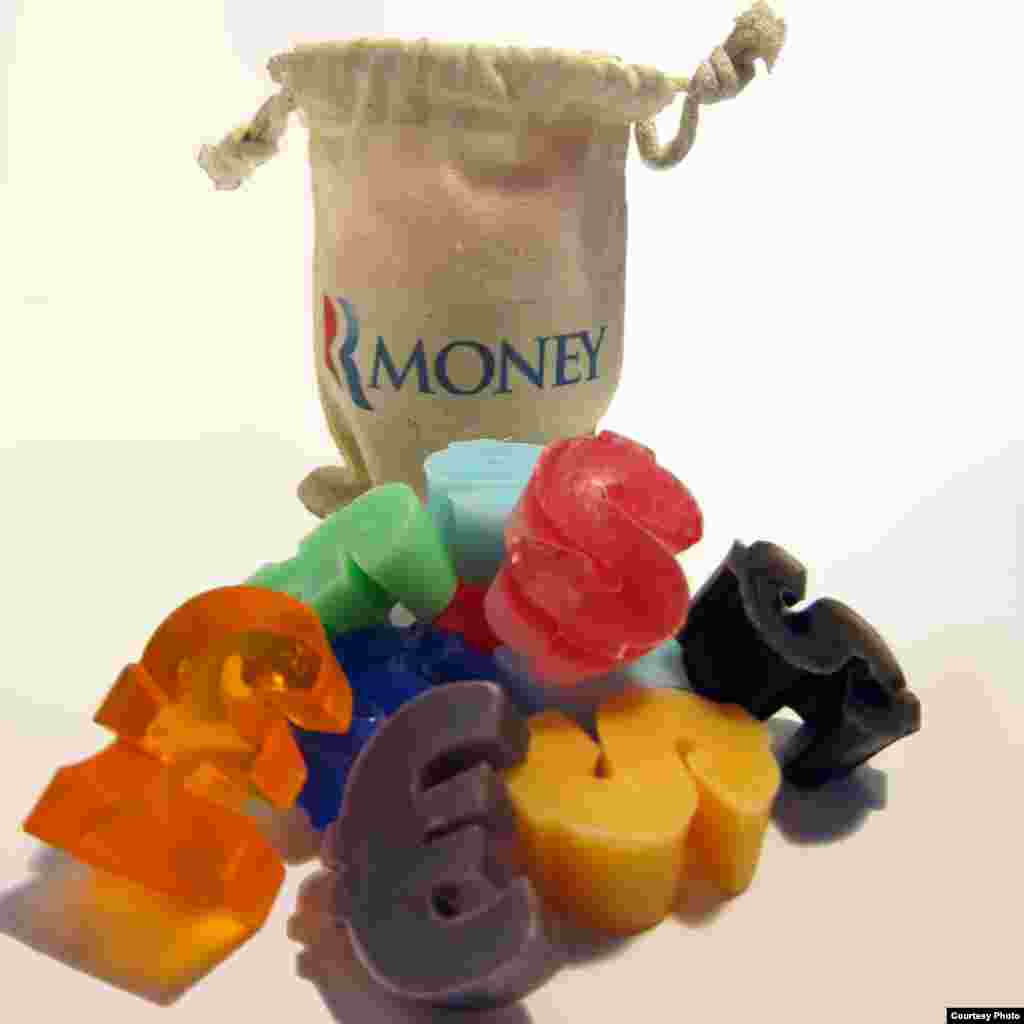 Romney money-symbols soaps