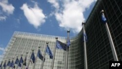 Belgium -- A view of the Berlaymont building, headquarters of the European Union Commission, Brussels, 20Jun2007