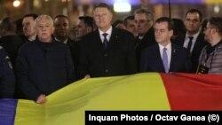 Președintele Klaus Iohannis, în coloană spre Piața Revoluției
