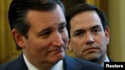 Републиканските сенатори Тед Круз и Марко Рубио, против кого Кина воведе санкции.