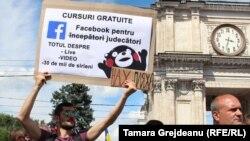 La protestele generate de anularea alegerilor din Chişinău