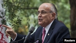 Former New York Mayor Rudolph Giuliani was a vocal advocate for U.S. President-elect Donald Trump during the campaign against Hillary Clinton (file photo).