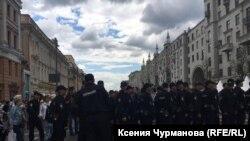 Силовики на Тверській вулиці в Москві, 12 червня 2017 року