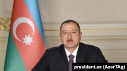 Azerbaijan - President Ilham Aliyev delivers a televised address to the nation, Baku, 31Dec2015