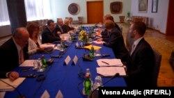 Štefan File tokom sastanka u Beogradu, 17. jul 2013.