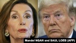 Нэнси Пелоси и Дональд Трамп (коллаж)