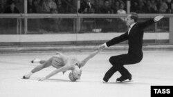 Белоусова и Протопопов на Олимпиаде в Гренобле (Франция) в 1968 году