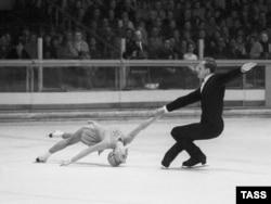 Белавусава і Пратапопаў на Алімпіядзе ў Грэноблі, 1968 г.