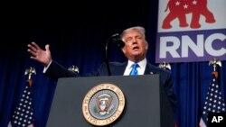 Президент США Дональд Трамп на з'їзді Республіканської партії, 24 серпня 2020 року