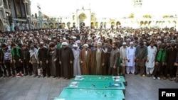 قم؛تشییع جنازه شش پاکستانی که در سوریه کشته شدند
