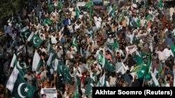 Пакистандын Карачи шаарындагы Индияга каршы жүрүш. 25-февраль, 2019-жыл.