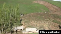 Several houses were also swept away in the landslide in southern Kyrgyzstan.