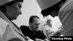 Nurses at a TB dispensary in the city of Sumgait in Azerbaijan