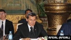 رشید مردوف وزیر خارجه ترکمنستان در جریان نشست با مقام های افغان در ولایت هرات ۱۵ جوزا ۱۴۰۰
