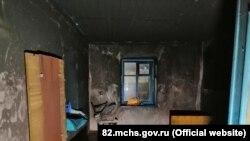 Пожар в Первомайском районе 22 января 2021