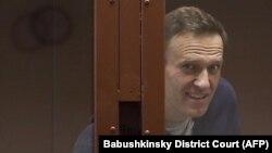 Ռուսաստանցի ընդդիմադիր Ալեքսեյ Նավալնին Մոսկվայի դատարանում, 12-ը փետրվարի, 2021թ․