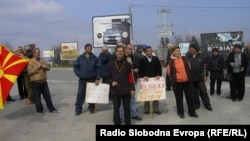 Еден од многуте протести на стечајните работници