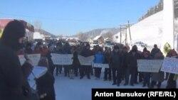 Митинг против вырубки леса, республика Алтай