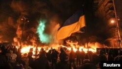 Вулиця Грушевського, Київ, 23 січня 2014 року