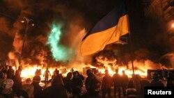 Вулиця Грушевського. 23 січня 2014 року