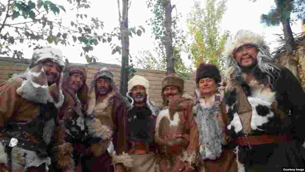 Этнические казахи, исполняющие в картине роли воинов Чингисхана.