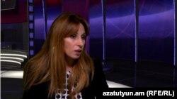 Депутат фракции «Наследие» Заруи Постанджян в студии «Азатутюн ТВ» (архив)