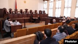 Armenia -- Constitutional Court opens hearings on opposition presidential candidate Raffi Hovannisian's appeal. 11Mar2013