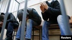 Арестованные по делу об убийстве Бориса Немцова в московском суде