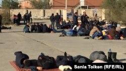 Забастовка работников нефтесервисной компании «Бургылау». Жанаозен, 3 октября 2016 года.
