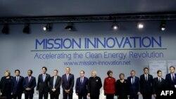 На международном саммите по климату (Ле Бурже, 30 ноября 2015 года)