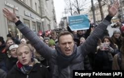 Навальный перед задержанием. Москва, 28 января 2018 года.