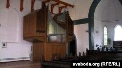 Новы арган у Гарадзенскай лютэраскай кірсе