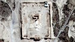 """Снимки со спутника подтвердили уничтожение """"ИГ"""" храма в Пальмире"""
