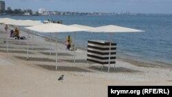Пляж у Криму, травень 2021 року