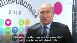 Vladimir Putin: Rusia va reacționa dacă America se retrage din tratatul INF