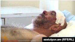 Смбат Акопян в больнице, 21 сентября 2015 г.