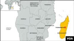 Картадағы Мадагаскар мемлекеті.