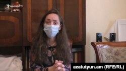 Հանգուցյալի թոռ Մարիամ Մալխասյանը զրուցում է «Ազատության» լրագրողի հետ, 2-ը հուլիս, 2020թ.