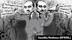 Azerbaijan - Azeri official Ali Hasanov, cartoon