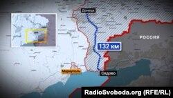 Відстань від Донецька до курортного селища Сєдове