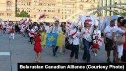 Акцыя салідарнасьці зь Беларусьсю ў Таронта, Канада, 30 жніўня 2020