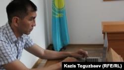 Қарағандылық адвокат Нұрхан Жұмабеков. Алматы, 20 маусым 2016 жыл.