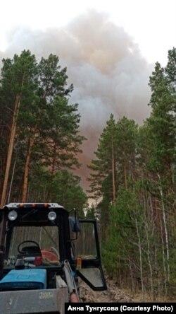 Пожары в лесах Вагайского района Тюменской области