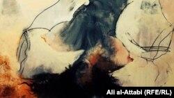 من لوحة للفنانة ريا عبدالكريم