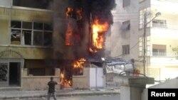 После взрыва в одном из сирийских городов, 18 июля 2012 г