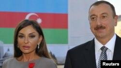 Ильхам Алиев с супругой