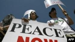 تظاهرات صلح، با چهلمین سالگرد جنگ های شش روزه همراه بود.