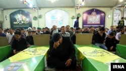 FILE: A funeral of Afghan fighters in Iran.
