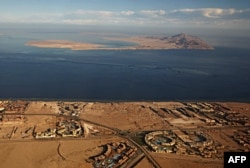 Два острова в Тиранском проливе, переданных Египтом Саудовской Аравии