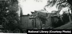 მიწისძვრის შედეგად დანგრეული წმინდა ნინოს ეკლესია საჩხერეში